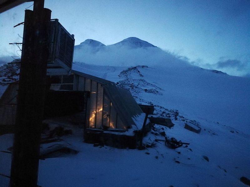 Mount Elbrus widziane z Beczek