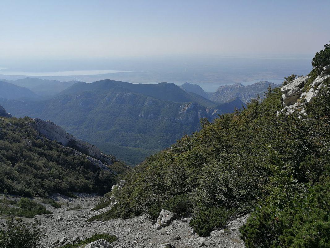 Vaganski Vrh piarg na szlaku